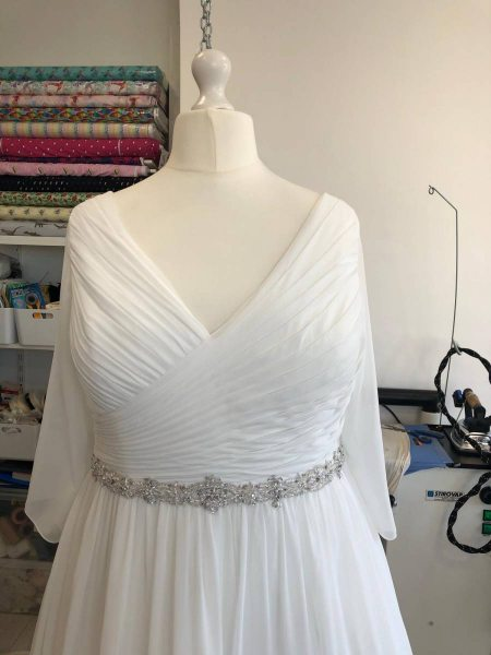 Ball gown wedding dress design change and alterations