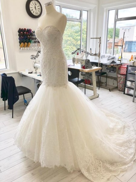 Design changes on wedding dresses