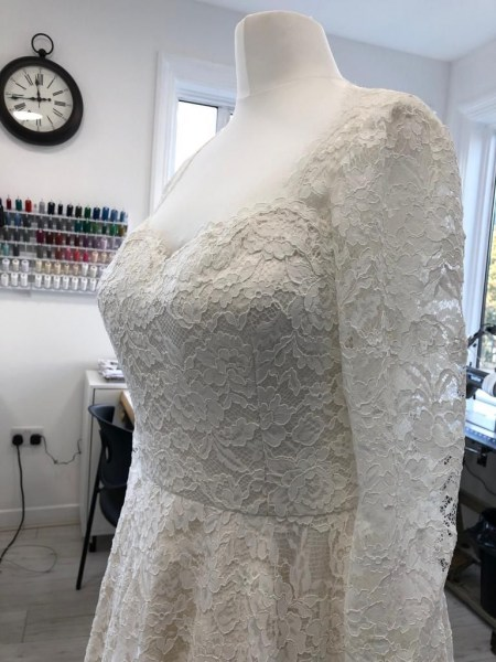 Wedding dress alterations.
